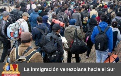 La inmigración venezolana hacia el Sur