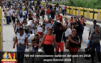 700 mil venezolanos salieron del país en 2018, según Encovi 2018
