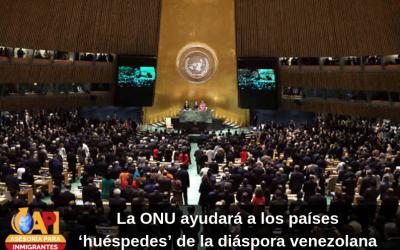 La ONU ayudará a los países 'huéspedes' de la diáspora venezolana
