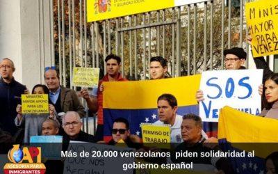 Más de 20.000 venezolanos  solidaridad al gobierno español