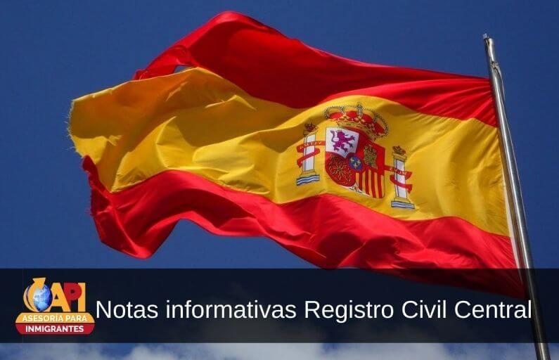 notas informativas registro civil