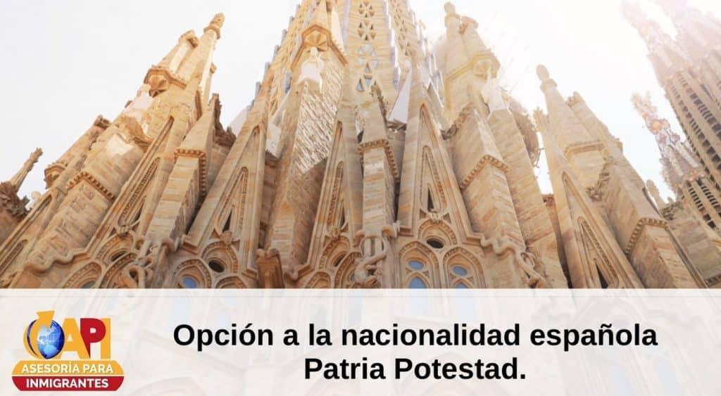 Nacionalidad española por patria potestad
