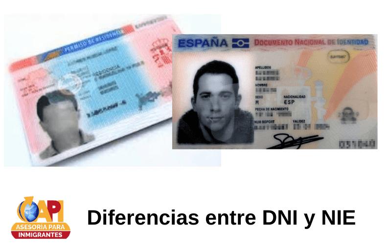 diferencias entre dni y nie