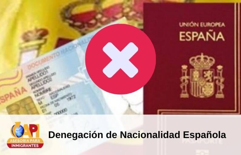 denegacion nacionalidad española