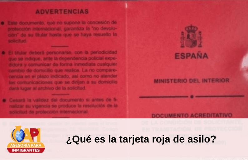 tarjeta roja asilo
