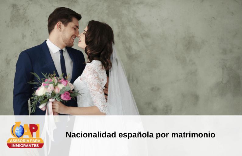 nacionalidad española por matrimonio